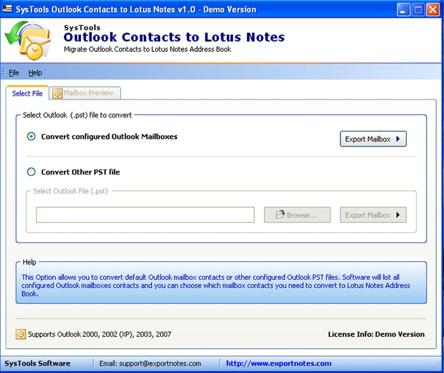 Advanced Outlook to Notes Contacts Switching